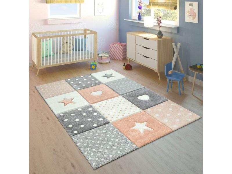 Килим за детска стая 140 х 200 см. Happy STARS оранжев