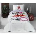 Покривка за детско легло с калъфка LOVE