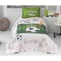 Покривка за детско легло с калъфка FOOTBALL