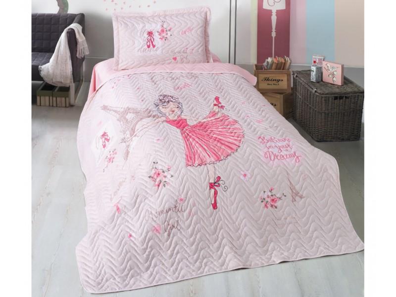 Покривка за детско легло с калъфка ROMANTIK GIRL