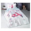 Покривка за детско легло с калъфка FREE GIRL
