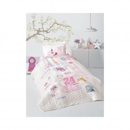 Покривка за детско легло с калъфка SUPER STAR