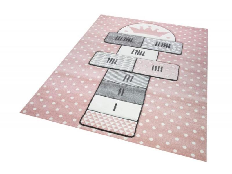 Детски релефен килим 160 х 230 см. ДАМА розов