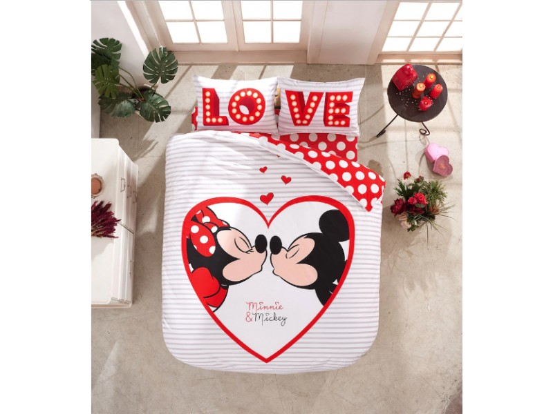 DISNEY детски спален комплект MISKEY MINNEY LOVE
