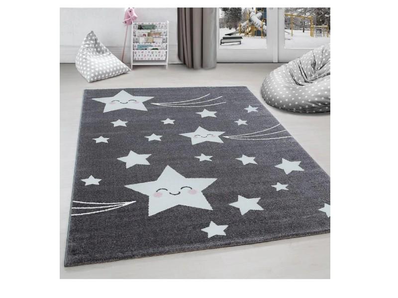 Килим за детска стая 120 х 170 см. STARS бели