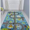 Детски килим за игри 160х230 см. ROADS син