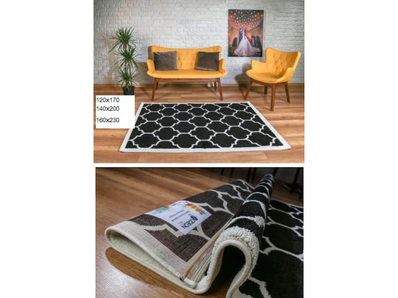 Модерен килим ODEON 120x170 см. черно.бяло