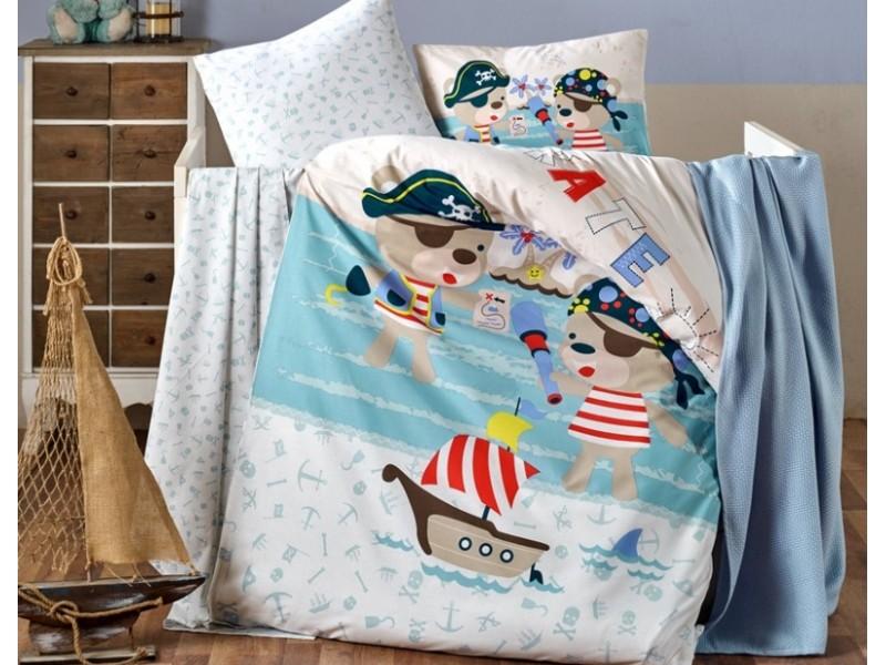 Бебешко спално бельо от 100% памук PIRATES