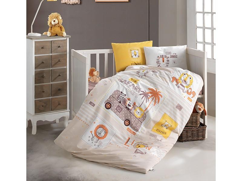 Бебешко спално бельо от памук LION