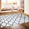 Модерен килим 150 х 230 см., Blue mosaik син детайл